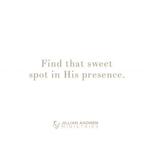 Read more about the article Sweet Spot with Him