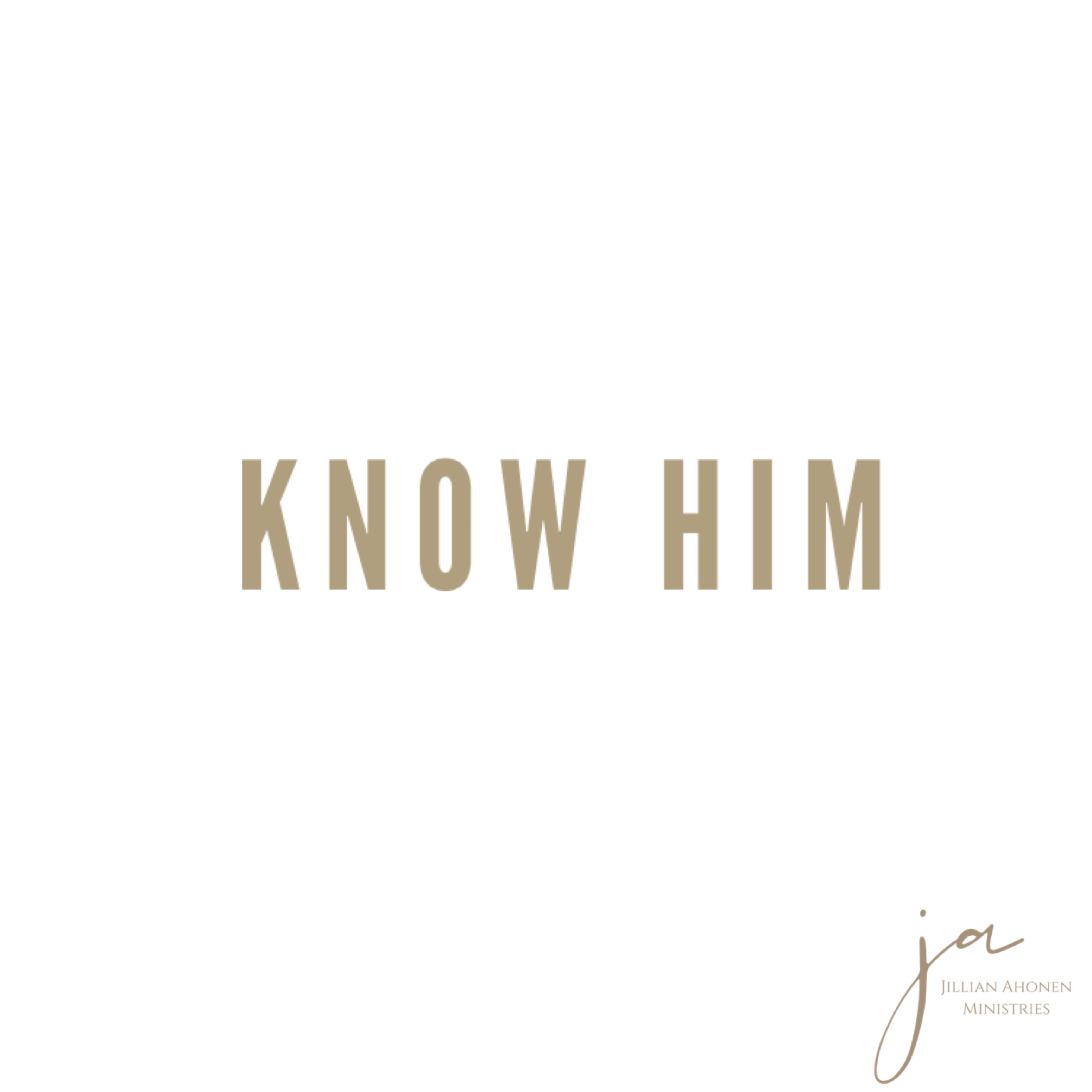 You are currently viewing Know Him