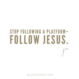 Read more about the article Follow Jesus Not a Platform